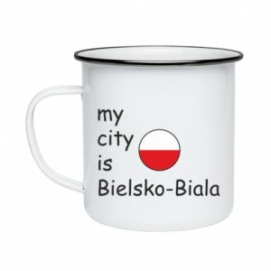 Enameled mug My city is Bielsko-Biala