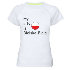 Women's sports t-shirt My city is Bielsko-Biala