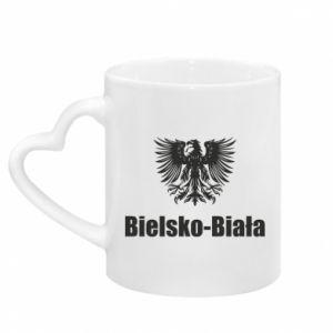 Kubek z uchwytem w kształcie serca Bielsko-Biała