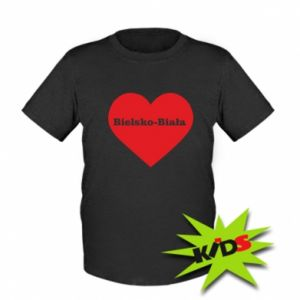 Dziecięcy T-shirt Bielsko-Biała w sercu