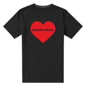 Męska premium koszulka Bielsko-Biała w sercu - PrintSalon
