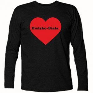Koszulka z długim rękawem Bielsko-Biała w sercu - PrintSalon