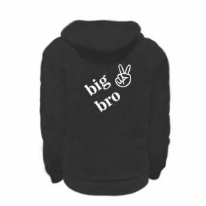Kid's zipped hoodie % print% Big bro