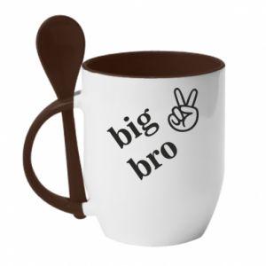 Kubek z ceramiczną łyżeczką Big bro