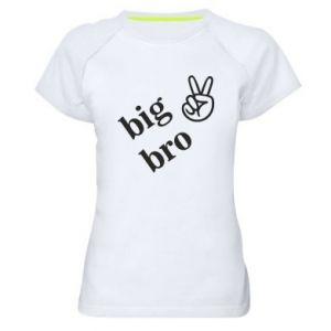 Women's sports t-shirt Big bro