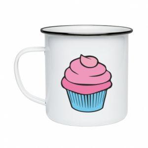 Kubek emaliowany Big cupcake