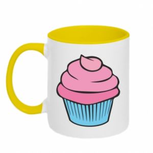 Two-toned mug Big cupcake - PrintSalon