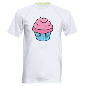 Men's sports t-shirt Big cupcake - PrintSalon