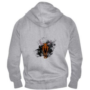 Men's zip up hoodie Big elk - PrintSalon