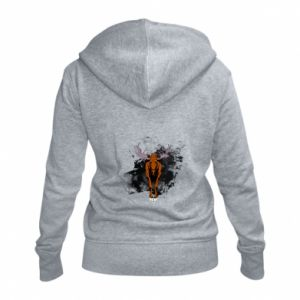 Women's zip up hoodies Big elk - PrintSalon