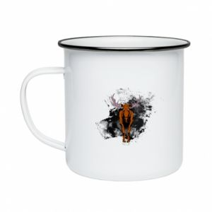 Enameled mug Big elk - PrintSalon