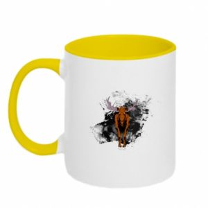 Two-toned mug Big elk - PrintSalon