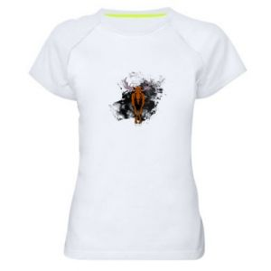 Women's sports t-shirt Big elk - PrintSalon
