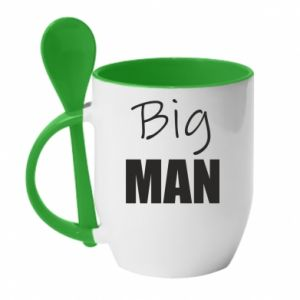 Kubek z ceramiczną łyżeczką Big man