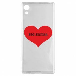 Etui na Sony Xperia XA1 Big sister, napis w sercu