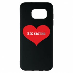 Etui na Samsung S7 EDGE Big sister, napis w sercu