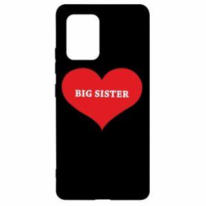 Etui na Samsung S10 Lite Big sister, napis w sercu