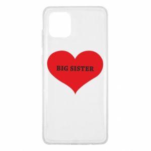 Etui na Samsung Note 10 Lite Big sister, napis w sercu