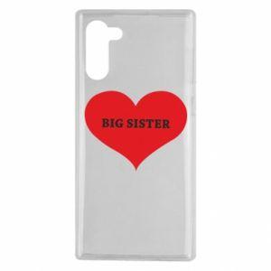 Etui na Samsung Note 10 Big sister, napis w sercu