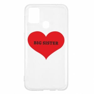 Etui na Samsung M31 Big sister, napis w sercu