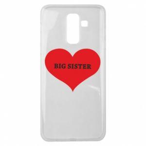 Etui na Samsung J8 2018 Big sister, napis w sercu