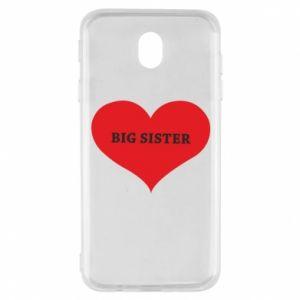 Etui na Samsung J7 2017 Big sister, napis w sercu