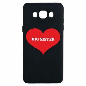 Etui na Samsung J7 2016 Big sister, napis w sercu
