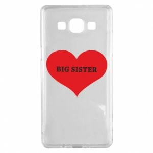 Etui na Samsung A5 2015 Big sister, napis w sercu