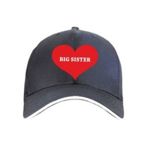 Czapka Big sister, napis w sercu