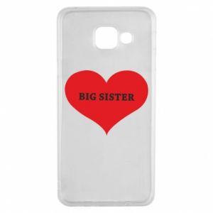 Etui na Samsung A3 2016 Big sister, napis w sercu