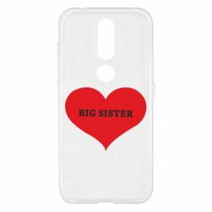 Etui na Nokia 4.2 Big sister, napis w sercu