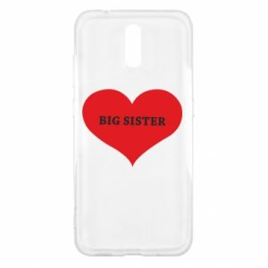 Etui na Nokia 2.3 Big sister, napis w sercu