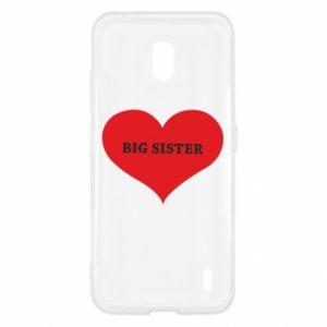 Etui na Nokia 2.2 Big sister, napis w sercu