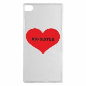 Etui na Huawei P8 Big sister, napis w sercu