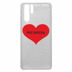 Etui na Huawei P30 Pro Big sister, napis w sercu