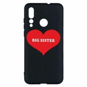 Etui na Huawei Nova 4 Big sister, napis w sercu