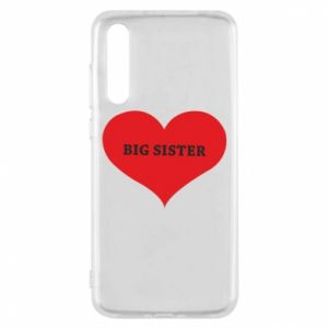 Etui na Huawei P20 Pro Big sister, napis w sercu