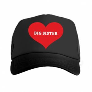 Czapka trucker Big sister, napis w sercu