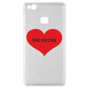 Etui na Huawei P9 Lite Big sister, napis w sercu
