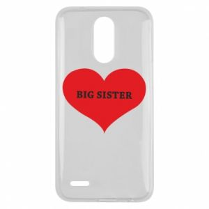 Etui na Lg K10 2017 Big sister, napis w sercu