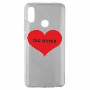 Etui na Huawei Honor 10 Lite Big sister, napis w sercu
