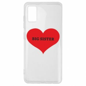 Etui na Samsung A41 Big sister, napis w sercu