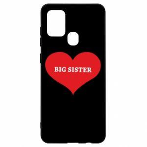 Etui na Samsung A21s Big sister, napis w sercu