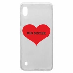 Etui na Samsung A10 Big sister, napis w sercu