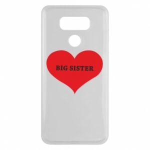 Etui na LG G6 Big sister, napis w sercu