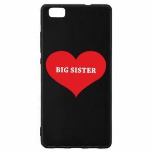 Etui na Huawei P 8 Lite Big sister, napis w sercu