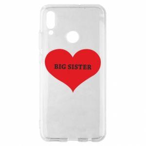 Etui na Huawei P Smart 2019 Big sister, napis w sercu