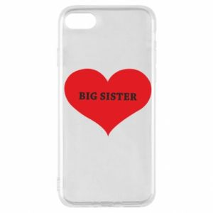 Etui na iPhone SE 2020 Big sister, napis w sercu