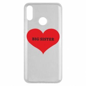 Etui na Huawei Y9 2019 Big sister, napis w sercu