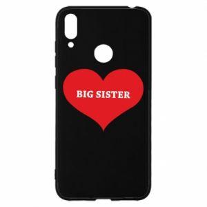 Etui na Huawei Y7 2019 Big sister, napis w sercu
